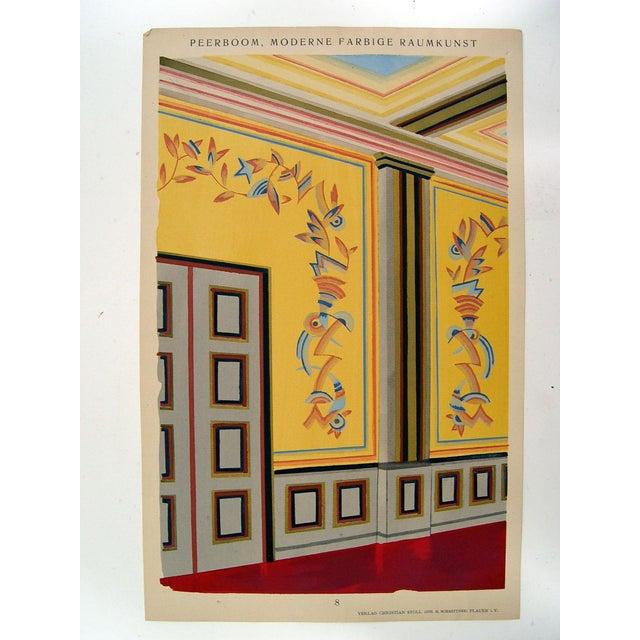 Antique 1929 Art Deco Interior Pochoir Print - Image 2 of 3