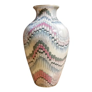 Toyo Hollywood Regency Noveau Lustre Vase