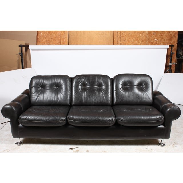 Danish Retro Black Sofa Chairish