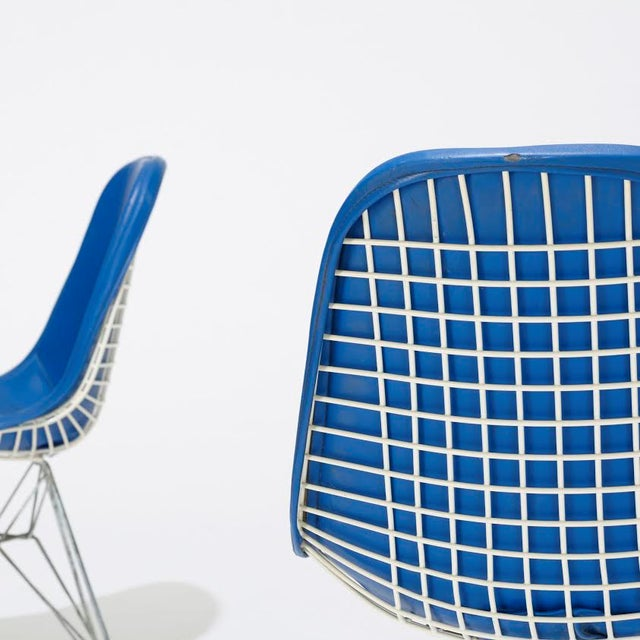 Image of Blue Eames DKR-1s Dining Chairs - Set of 4