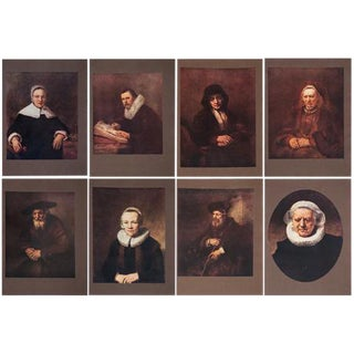 M.Menpes Rembrandt Lithographs- Set of 8