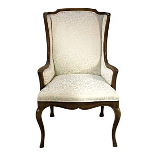 Louis XV Style French Provincial Upholstered Bergere Chair