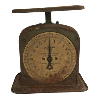 Vintage Rusty Metal Universal Household Kitchen Scale