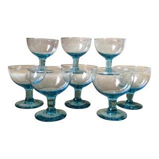 Pale Blue Dessert Glasses - Set of 8