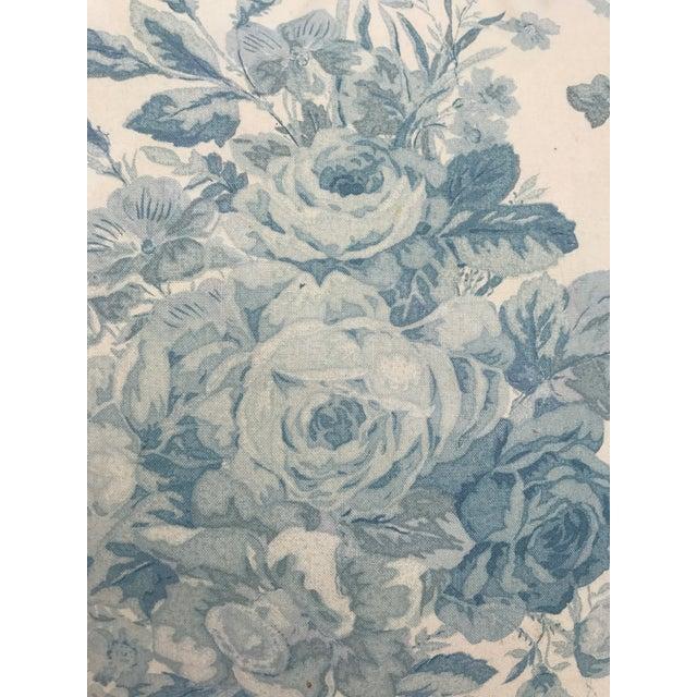 Ralph Lauren Blue & White Rose Patterned Pillow - Image 4 of 8
