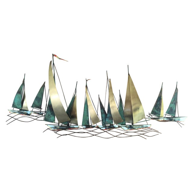 Curtis Jere Metak Boat Sculpture - Image 1 of 3
