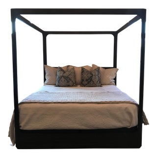 Restoration Hardware Martens King Size Oak Canopy Bed