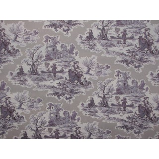 Purple French Scenic Toile Fabric
