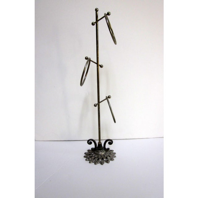 Vintage Hollywood Regency Brass Towel Rack - Image 4 of 4