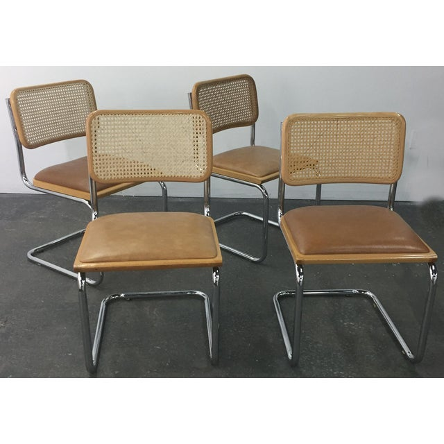 Vintage Breuer Cesca Style Chrome & Cane Chairs - Set of 4 - Image 2 of 8
