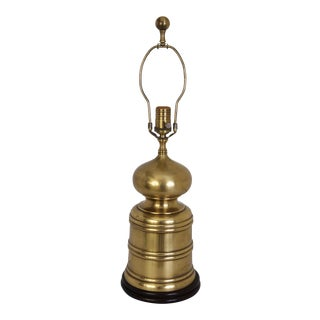 Handsome Brass Chinoiserie Table Lamp