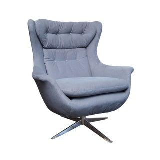 Mid-Century Danish Modern Swivel Lounge Chair
