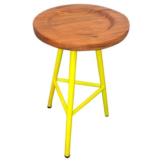 Custom Neon Yellow Ohio Stools - Set of 3