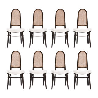 Set of Eight Edward Wormley Dining Chairs