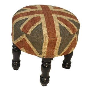 The British Are Coming Kilim Footstool