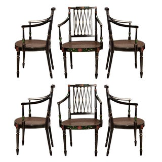 Swedish 19th-Century Caned Chairs - Set of 6