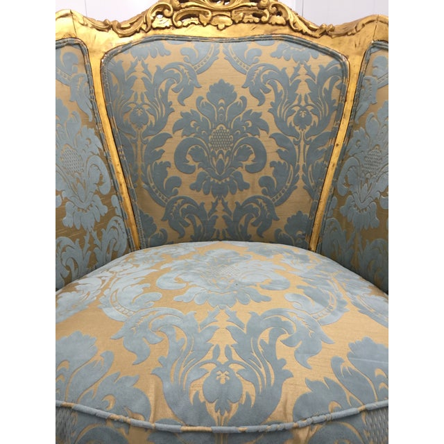 Antique French Louis XV Gilt Wood Chairs - Pair - Image 8 of 11