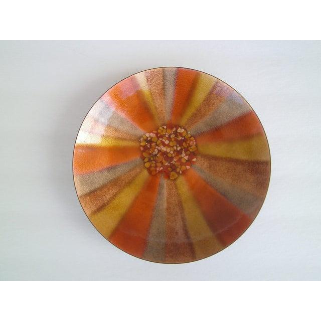 Mid-Century Copper Enamel Bowl/ Bovano - Image 5 of 5