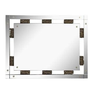Brass Detailed Rectangular Mirror