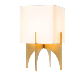 Large Modern Brass Thick Accent Lamp