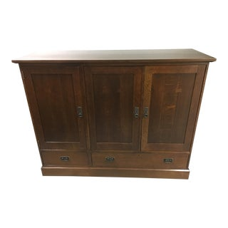 Stickley Oak Entertainment Cabinet