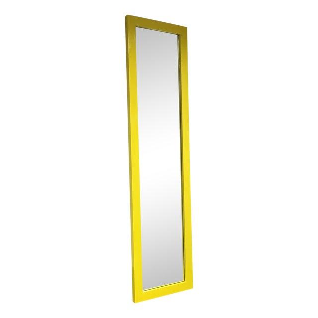 Image of Yellow Floor Mirror