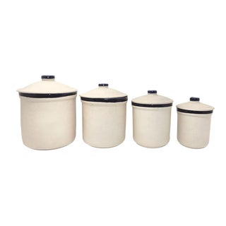 Mountainside Stoneware Kitchen Canisters - Set of 4
