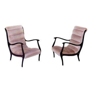 Restored Ezio Longhi Lounge Chairs - A Pair
