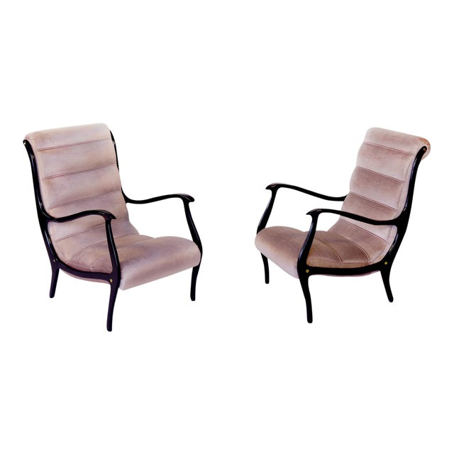 Restored Ezio Longhi Lounge Chairs - A Pair - Image 1 of 5