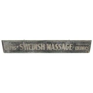 Swedish Massage and Colonics Street Sign