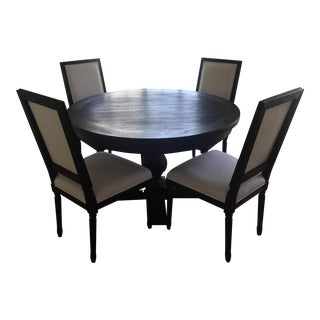 Restoration Hardware Black Dining Set