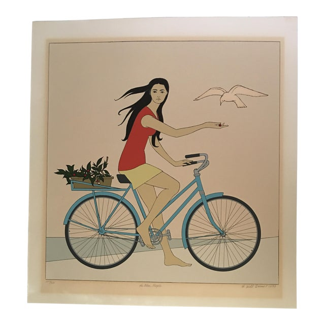 "Will Barnet ""Blue Bicycle"" Signed Serigraph - Image 1 of 11"