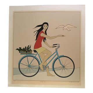 "Will Barnet ""Blue Bicycle"" Signed Serigraph"