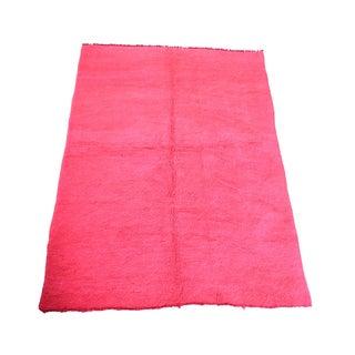 "Large Vintage Hot Pink Moroccan Rug - 5'5"" x 8'"