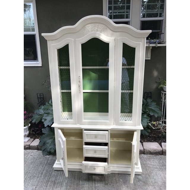 Image of Vintage Stanley French Style China Cabinet