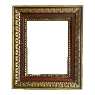 Mid-Century Red & Gold Frame