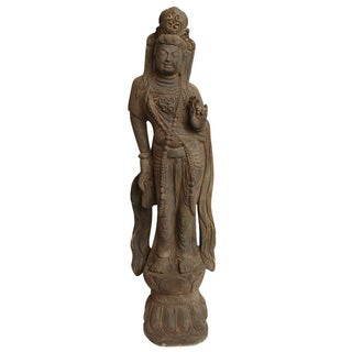 Carved Stone Quan Yin Figure