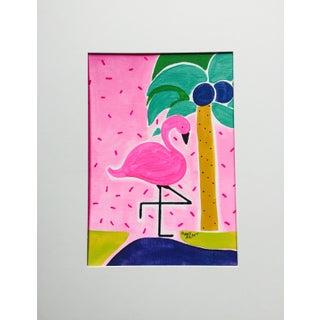 """Pinky - the Sassy Flamingo"" Painting"