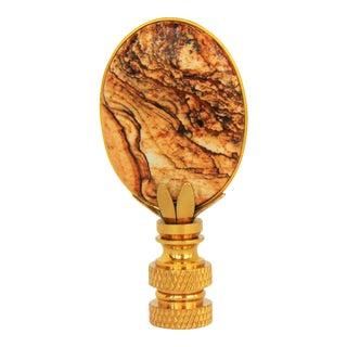 Jasper Oval Lamp Finial