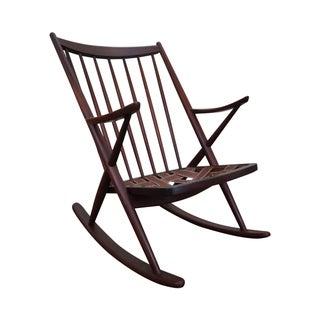 Frank Reenskaug Bramin Danish Teak Rocking Chair