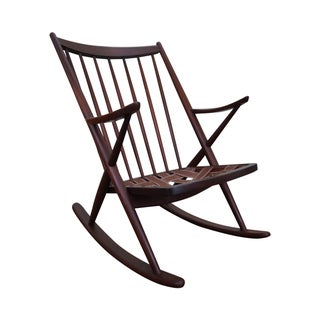 Frank Reenskaug Bramin Danish Teak Rocking Chair