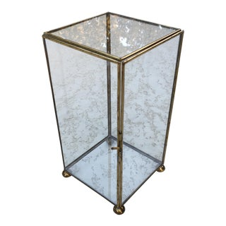 Vintage Brass & Glass Curio Display Cabinet