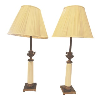 Vintage Stiffel Tapered Ceramic Lamps - A Pair