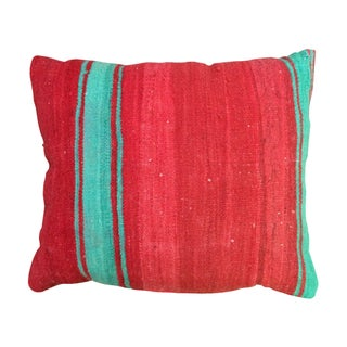 Red & Turquoise Moroccan Pillow