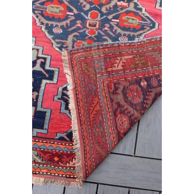 "Semi-Antique Caucasian Kazak Runner - 4'4"" x 10'1"" - Image 8 of 9"