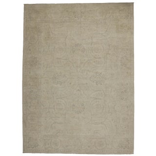 Transitional Beige Area Rug - 8′10″ × 12′