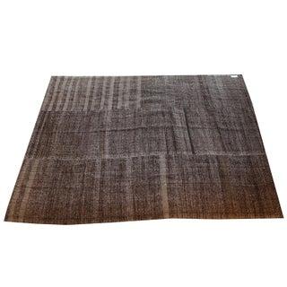 Vintage Turkish Flat Weave Rug - 7′ × 8′9″