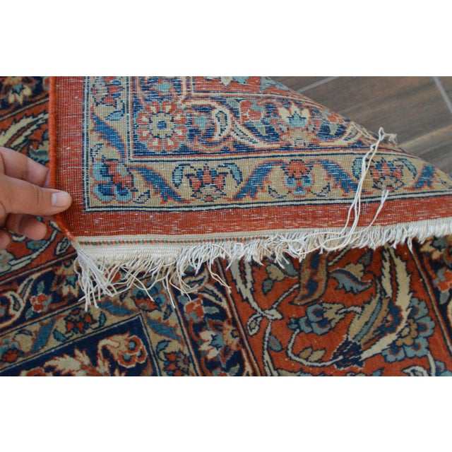"Vintage Persian Sarouk Rug - 6'11"" X 10'11"" - Image 11 of 11"
