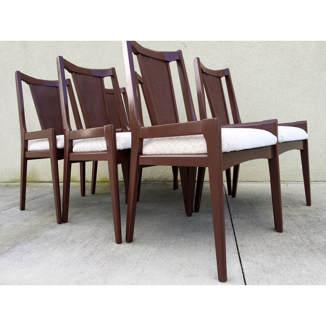 High Chair Dining Set: High Back Lacquered Dining Chairs - Set Of 6