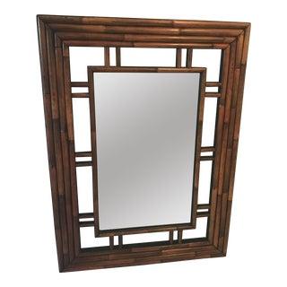Mid-Century Modern Faux Bamboo Mirror
